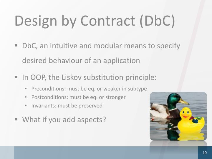 Design by Contract (DbC)