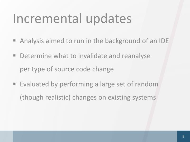 Incremental updates