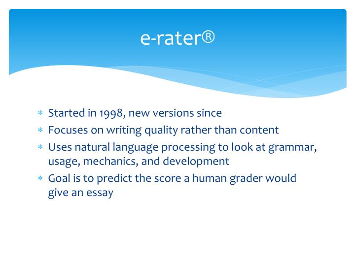 e-rater