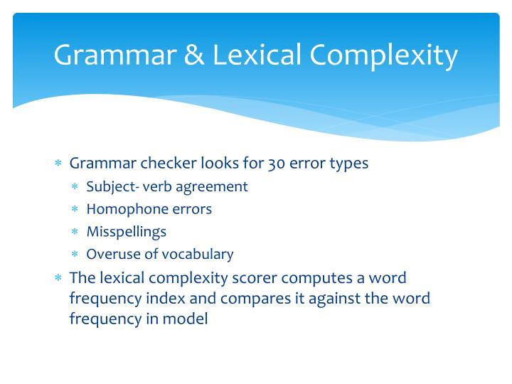 Grammar &
