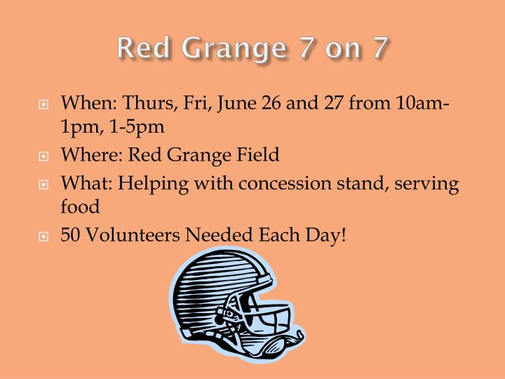 Red Grange 7 on 7