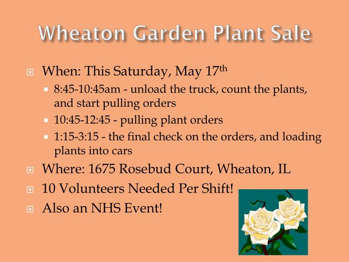 Wheaton Garden Plant Sale