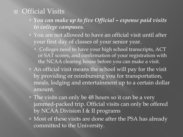 Official Visits