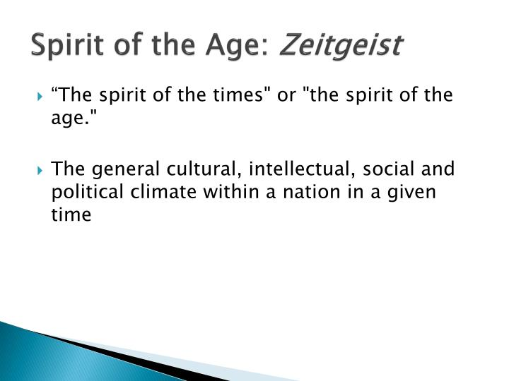Spirit of the Age: