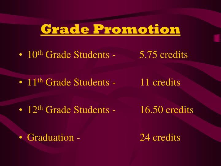 Grade Promotion