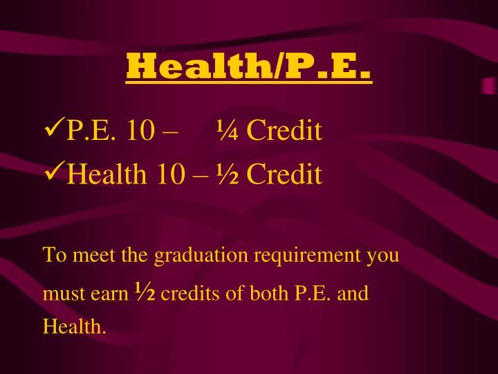 Health/P.E.