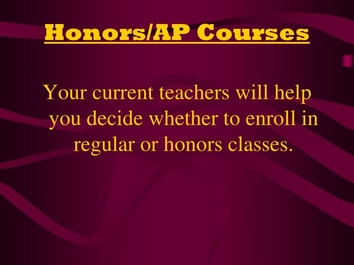 Honors/AP Courses