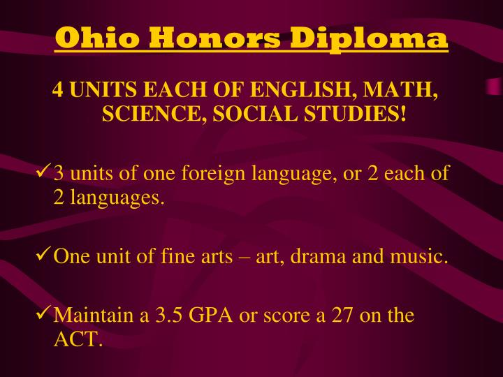 Ohio Honors Diploma