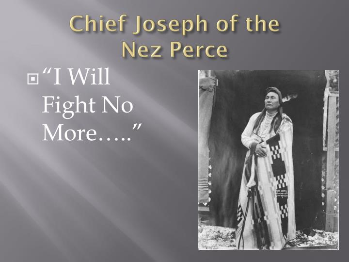 Chief Joseph of the