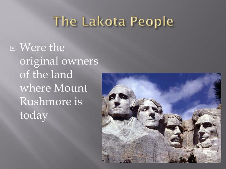 The Lakota People