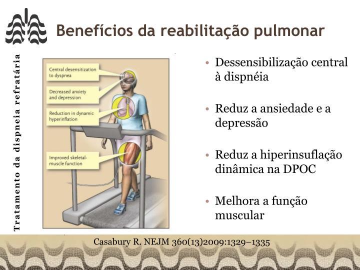 Benefícios da reabilitação pulmonar