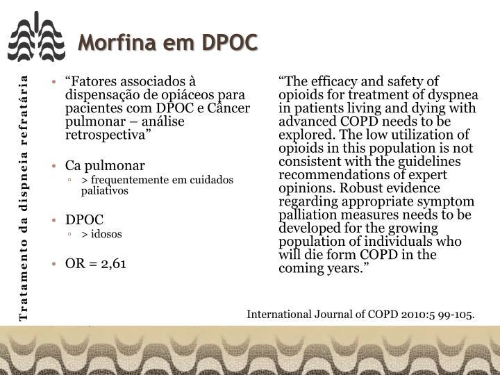 Morfina em DPOC