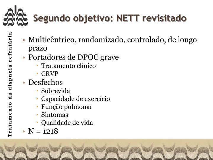 Segundo objetivo: NETT revisitado