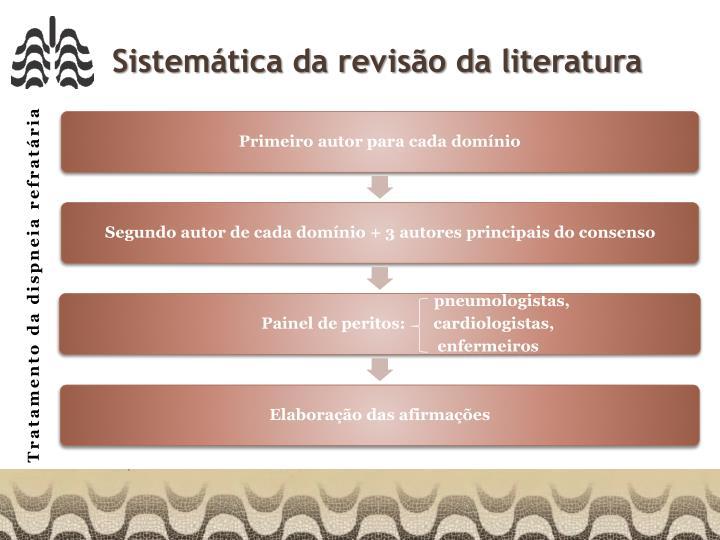 Sistemática da revisão da literatura