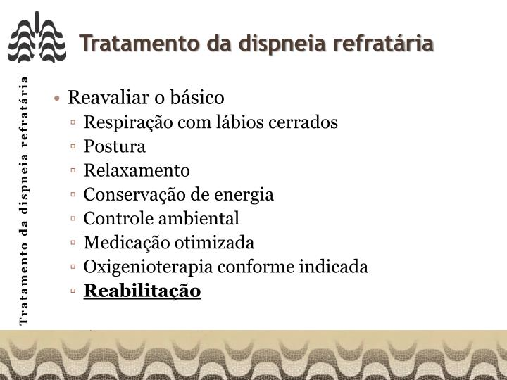 Tratamento da dispneia refratária
