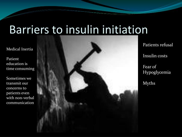 Barriers to insulin initiation