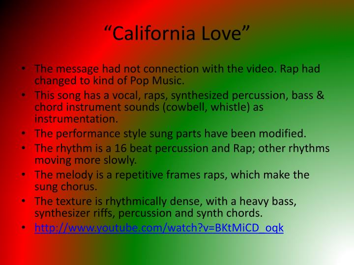 """California Love"""