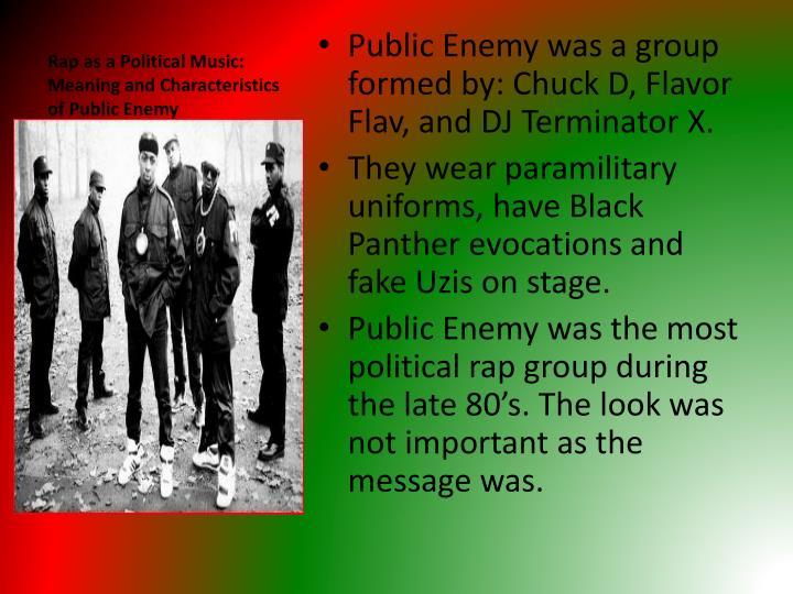 Rap as a Political Music: