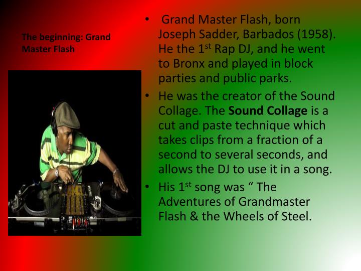The beginning: Grand Master Flash