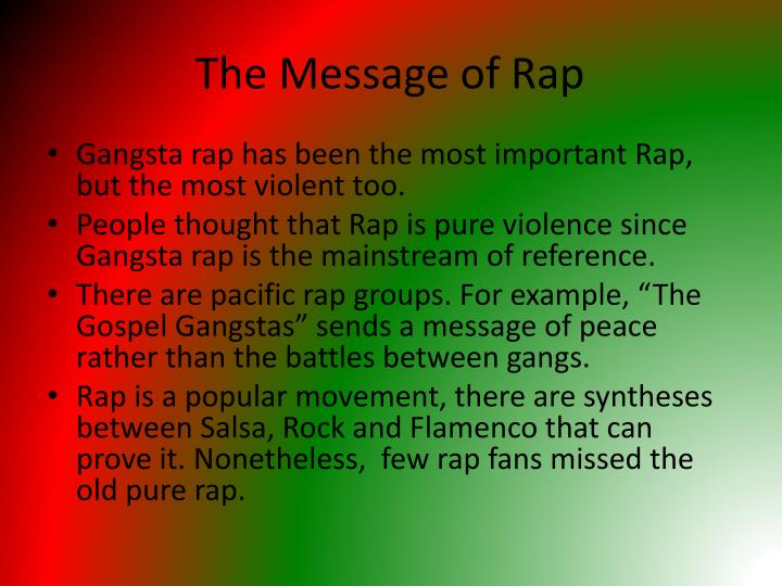 The Message of Rap