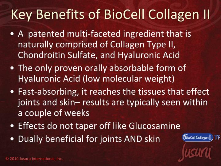 Key Benefits of BioCell Collagen II