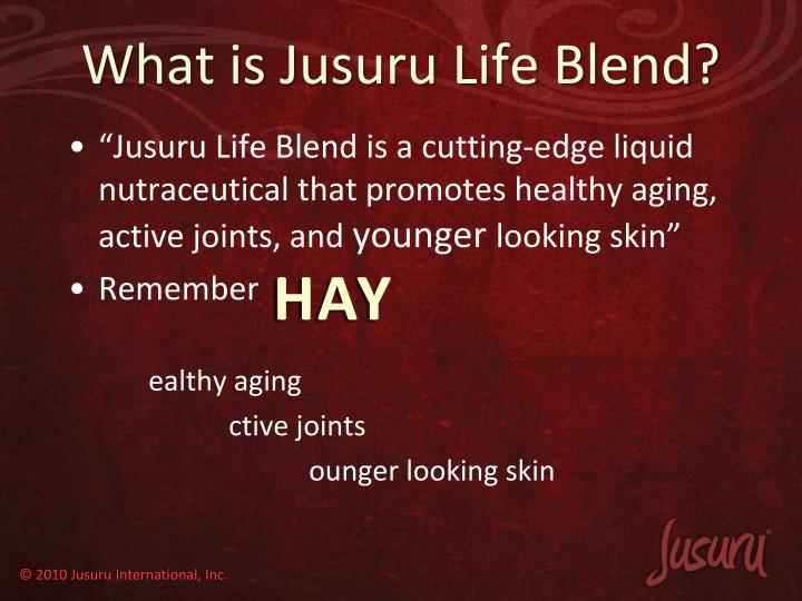 What is Jusuru Life Blend?