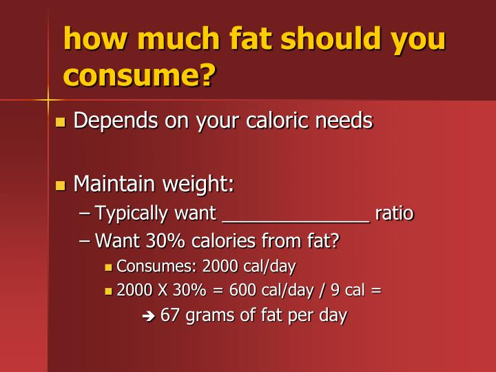 how much fat should you consume?