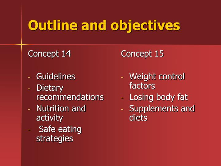 Outline and objectives