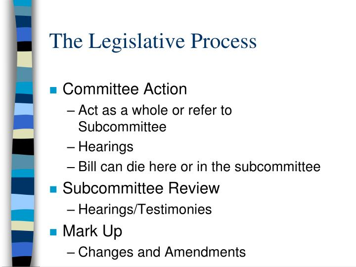 The legislative process1