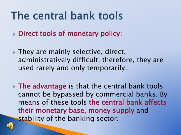 The central bank tools1
