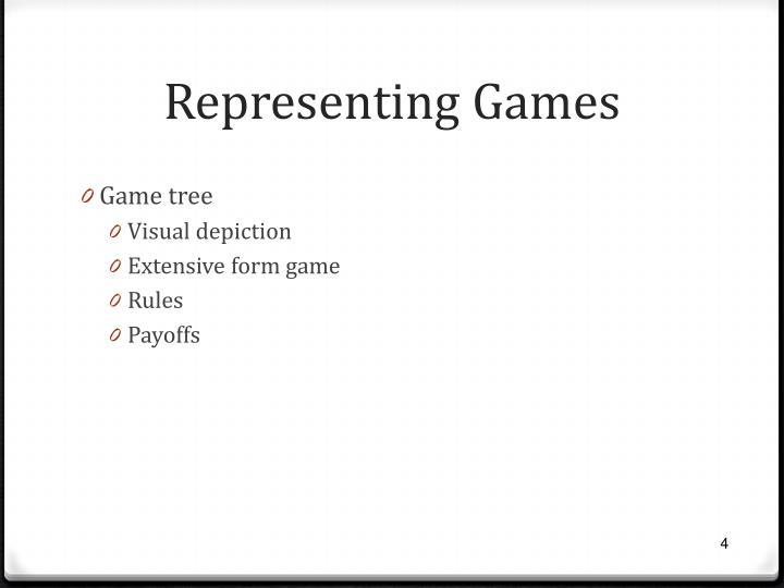 Representing Games