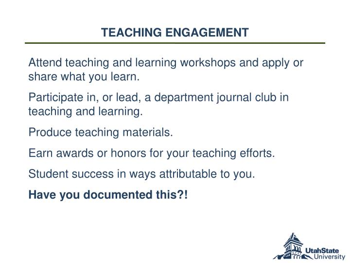 Teaching Engagement