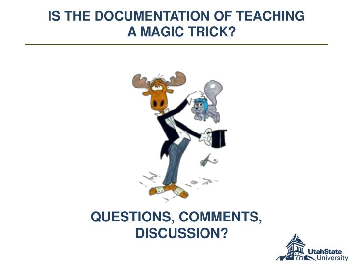 Is the documentation of Teaching