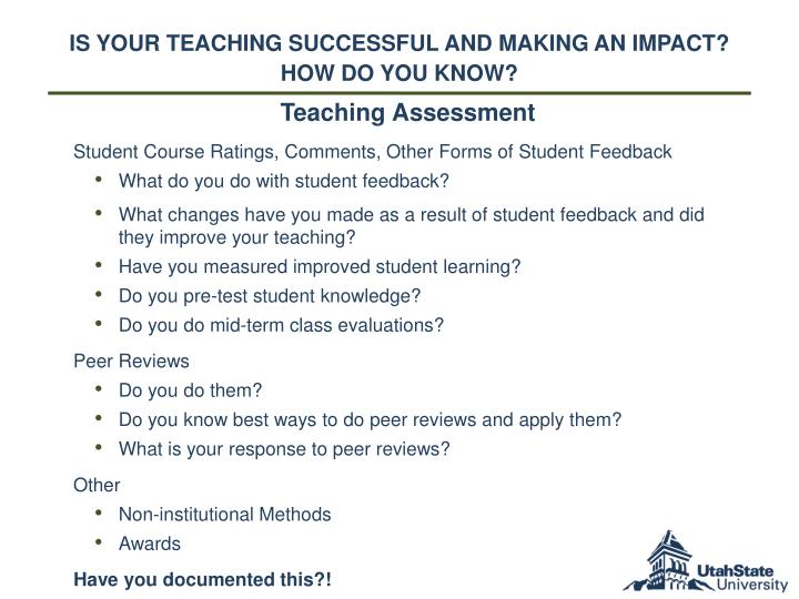 Is Your Teaching successful and Making an Impact?