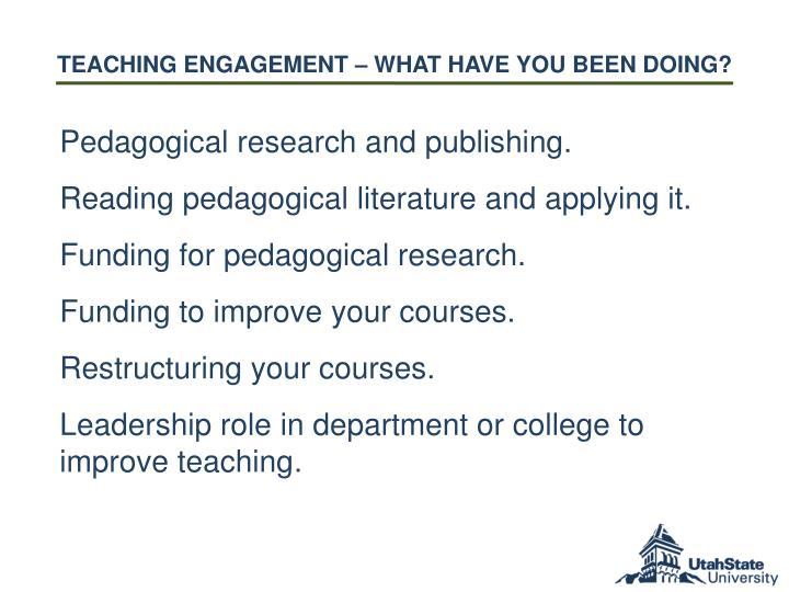 Teaching E