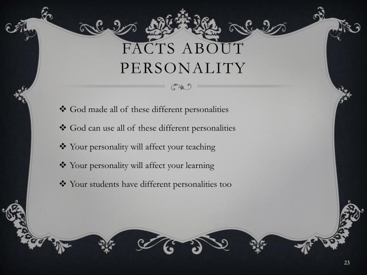 Facts about personality