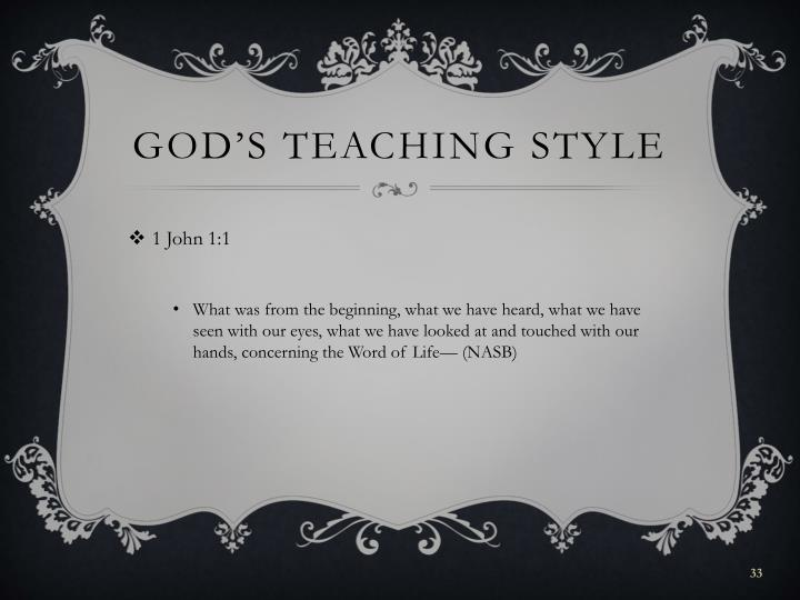 God's teaching style