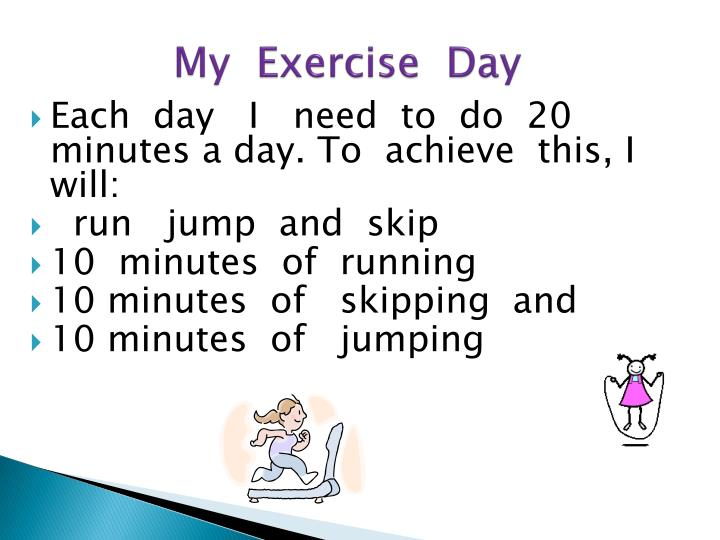My  Exercise  Day