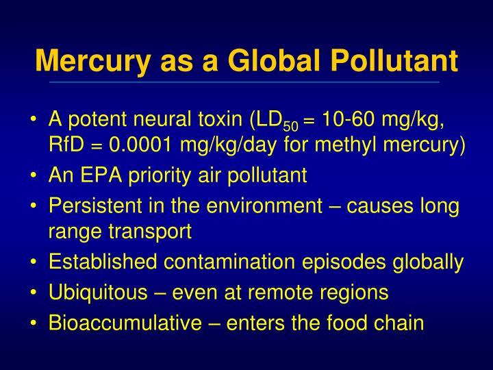 Mercury as a Global Pollutant