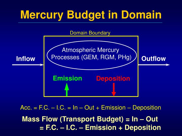 Mercury Budget in Domain