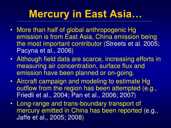 Mercury in East Asia…