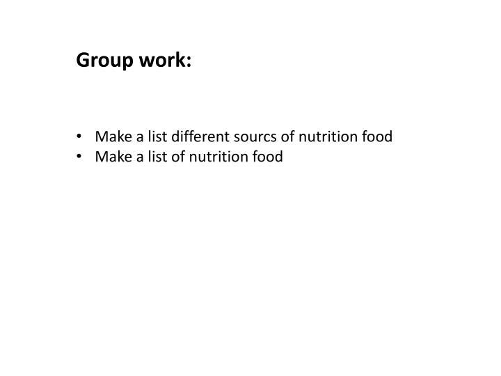 Group work: