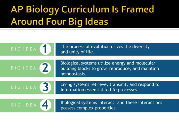 AP Biology Curriculum Is Framed