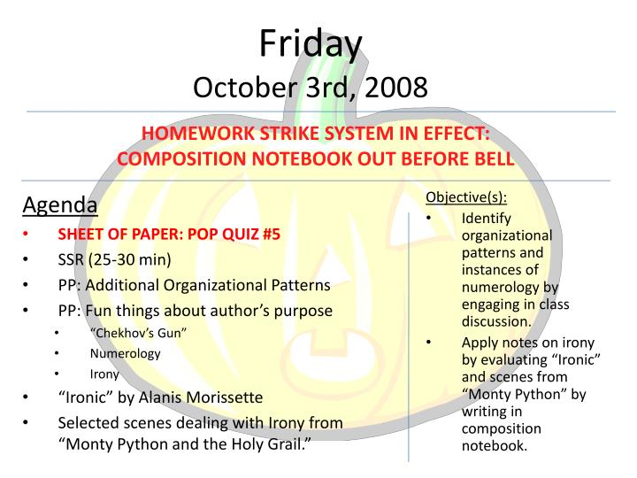 Friday october 3rd 2008