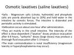 osmotic laxatives saline laxatives