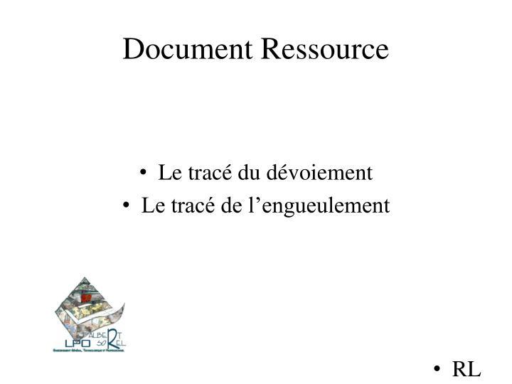 Document Ressource