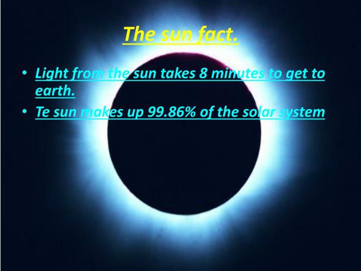 The sun fact.