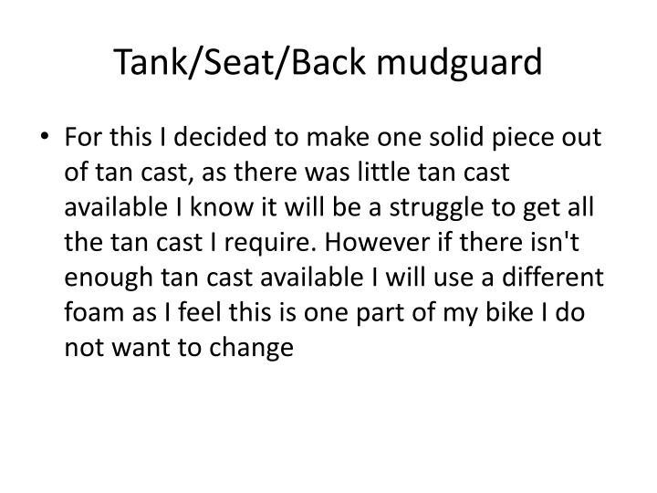 Tank/Seat/Back mudguard