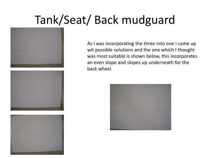 Tank/Seat/ Back mudguard