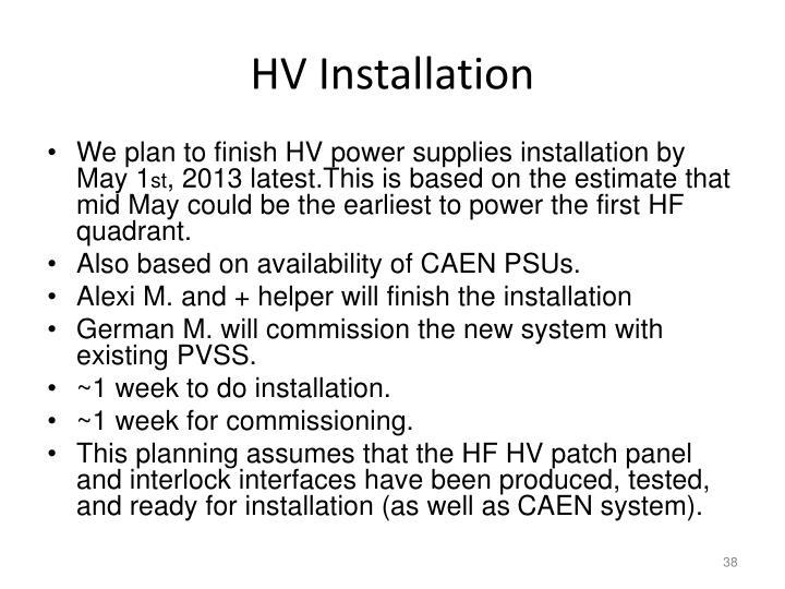 HV Installation